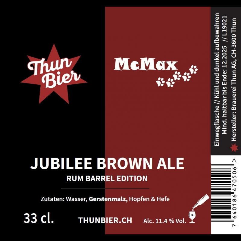 Thunbier Brown Ale Collab Flasche 33cl